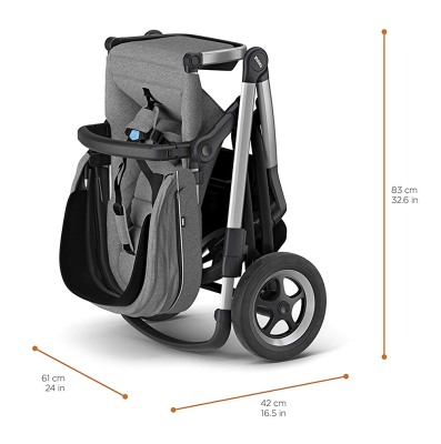 thule sleek folded dimensions